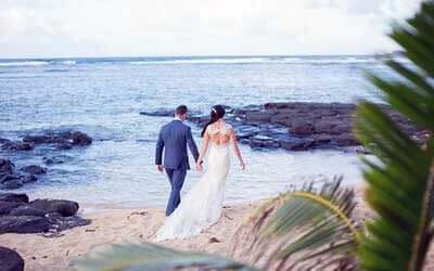 Walk in the Water at Your Kauai Wedding
